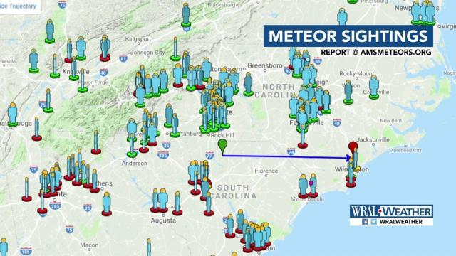 Meteor seen this morning throughout Southeast :: WRAL com