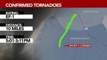 IMAGES: Where, when: 8 tornadoes touch down across NC