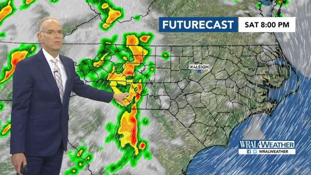 Sunday wetter, but chance for showers begins Saturday