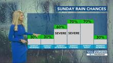 IMAGES: Showers storms possible through Saturday night; Mother's Day brings severe thunderstorm threat
