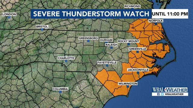 Severe weather moves out of central NC :: WRAL com