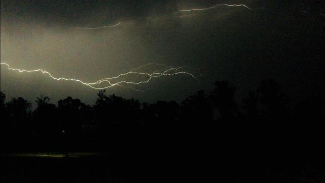 Lightning Strike At Florida Beach