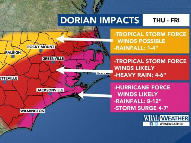Hurricane Dorian prompts mandatory evacuation orders for