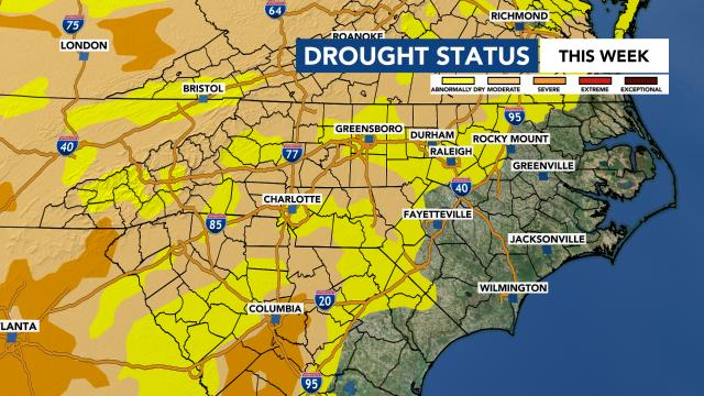 NC drought status