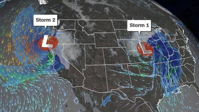 Back-to-back storms will unleash more snow, intense rain and strong winds for Thanksgiving travelers