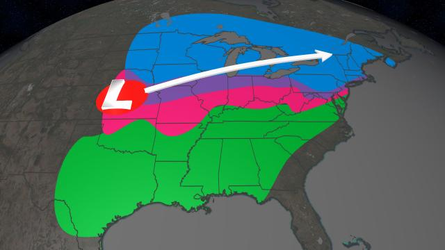 Significant snow and ice will hit parts of US into the weekend
