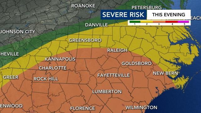 Level 3 risk for severe weather Thursday