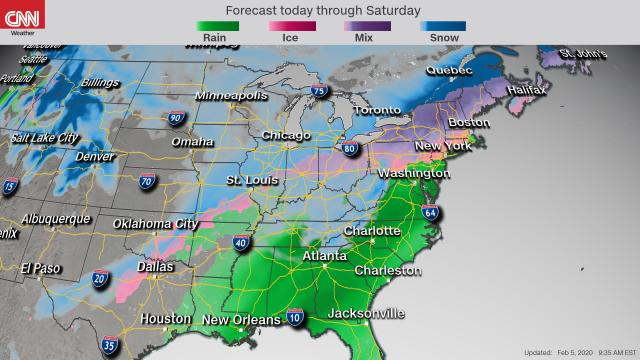 Winter weather alerts stretch over 2,300 miles from New Mexico to Maine