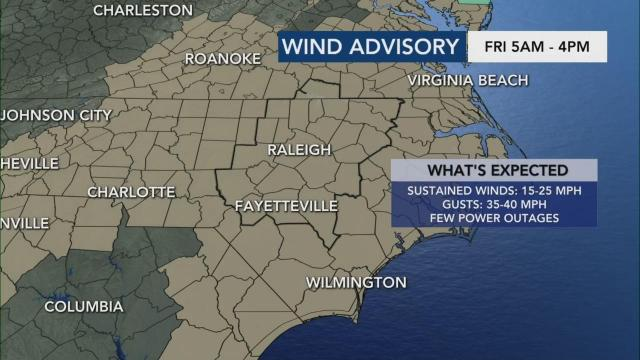 As rain exits area, expect windy conditions on Friday