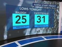 Cold conditions continue into Friday morning