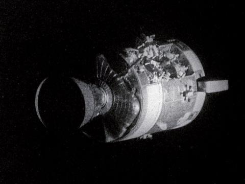 Apollo 13 Odyssey Service Module damage