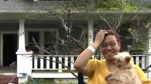 IMAGES: Sanford family of 10 feeling grateful, faces struggle after tree crashes through roof
