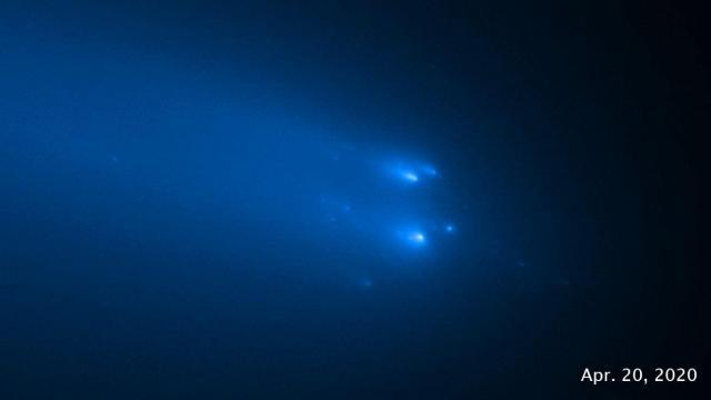 The Hubble Space Telescope imaged the breakup of Comet C/2019 Y4 (ATLAS)