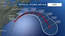 IMAGES: After Dorian, coronavirus, Arthur's blast another blow to Outer Banks