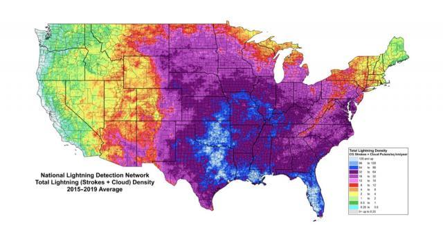 lightning density (credit:Chris Vagasky/Vaisala)