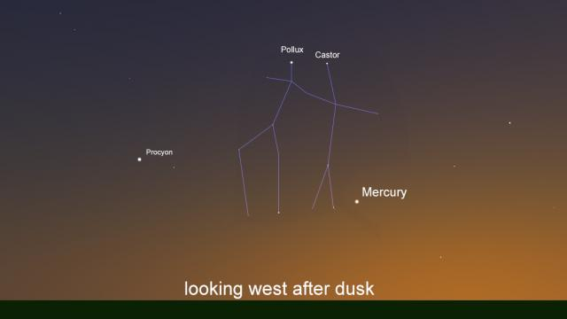 Mercury is at its highest the first week of June 2020