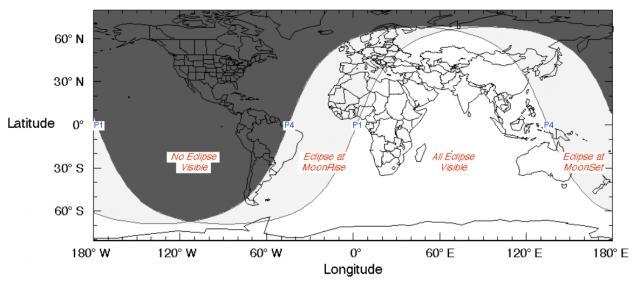 visibility of June 2020 penumberal lunar eclipse