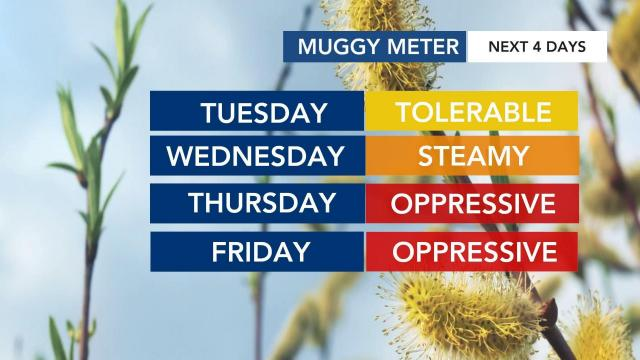 Oppressive heat, chance for storms coming this week