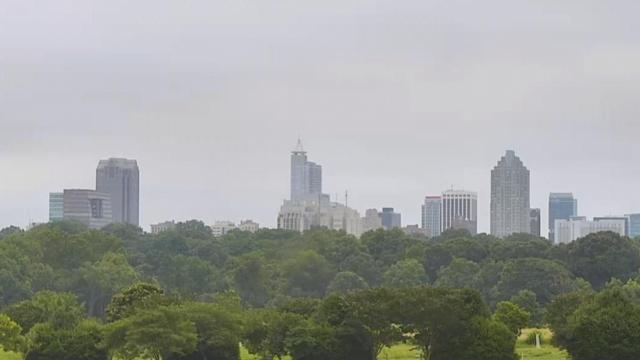 A cloudy Raleigh skyline this Sunday.