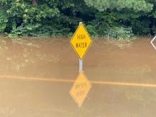Red Oak flooding (Luke Notestine, WRAL photo)