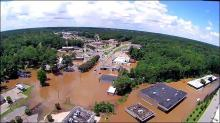 IMAGES: Tar River in Rocky Mount reaches 3rd highest level on record