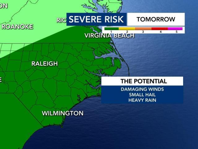 Severe weather risk for June 25, 2020