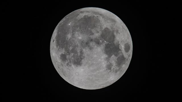 The moon is seen prior to the Penumbral Eclipse starting on September 28, 2015 in Somerset, England. Tonight's supermoon - so called because it is the closest full moon to the Earth this year - is particularly rare as it coincides with a lunar eclipse, a combination that has not happened since 1982 and won't happen again until 2033.