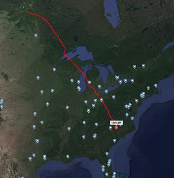 Tracking shows the baloon traveling from Canada