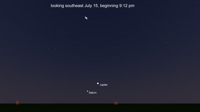 The ISS will pass over beginning at 10 pm on July 14, 2020