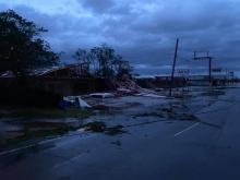 Ryan St Lake Charles, La after the storm.