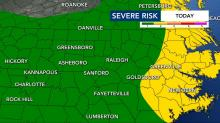 IMAGES: Severe weather threat diminishes, shifts to eastern counties