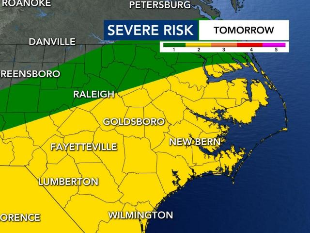 We are under a medium risk for excessive rainfall for Thursday.