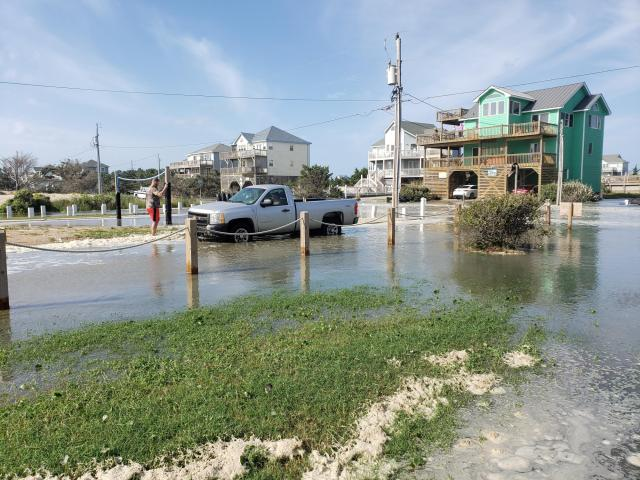 Waves 'as big as any hurricane' wash out NC 12