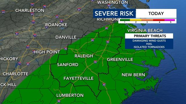 We have a Level 1 risk for severe weather in our area starting on Tuesday.