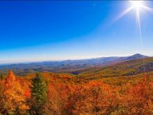 Pay a virtual visit to the Blue Ridge Parkway, where fall colors are bright
