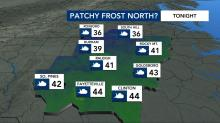 IMAGES: Cooler weather could produce frost in spots this weekend