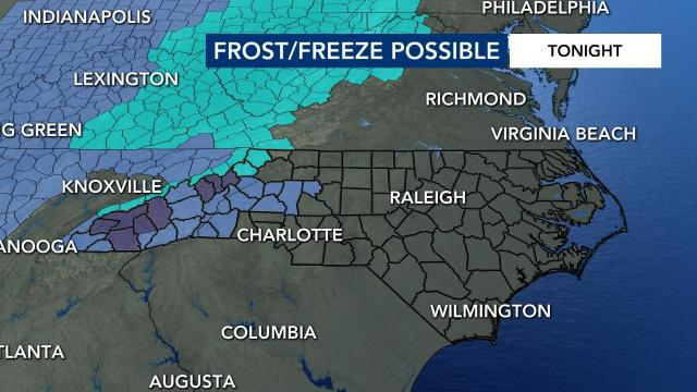 Frost and freeze possible