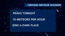 IMAGES: Orionid Meteor Shower peaks Tuesday