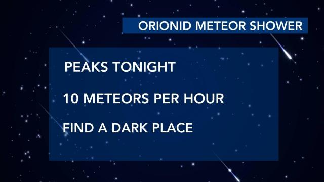 Orionid Meteor Shower peaks Tuesday