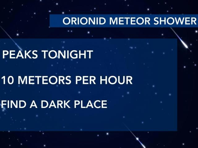 Orionid Meteor Shower peaks Tuesday