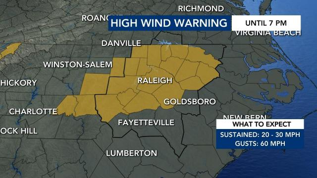High wind advisory