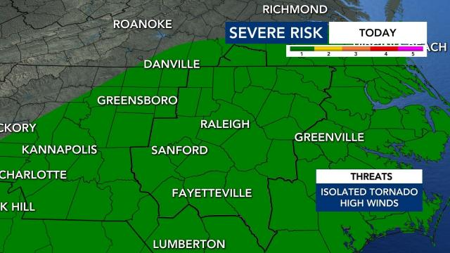 Level 1 risk for severe weather Thursday