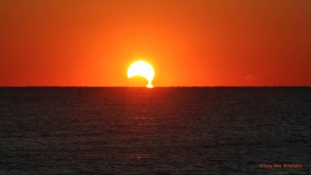 Nov 3, 2013 partial solar eclipse from Myrtle Beach, SC (Tony Rice)