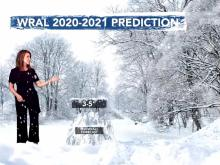 WRAL winter weather prediction 2020-21