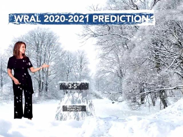 WRAL is predicting about 2.5 inches of snow this winter.