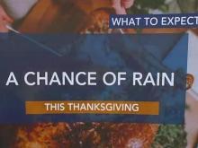 Chance of rain on Thanksgiving