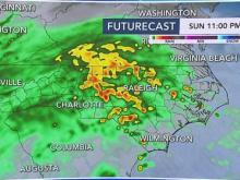 Level 1 threat for severe weather overnight Sunday