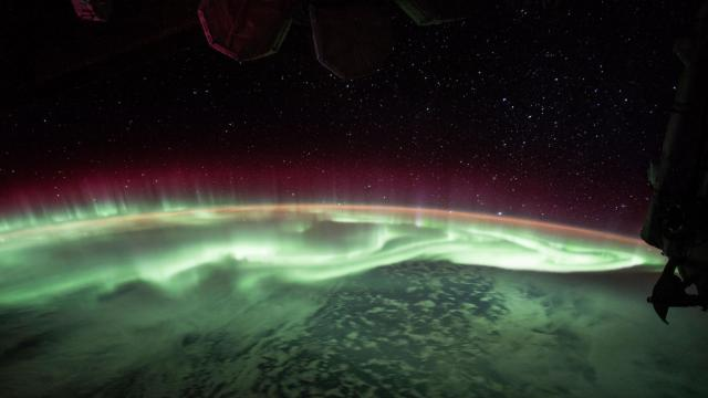 Expedition 52 Flight Engineer Jack Fischer of NASA shared photos and time-lapse video of a glowing green aurora seen from his vantage point 250 miles up, aboard the International Space Station. This aurora photo was taken on June 26, 2017.