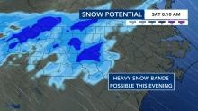 IMAGES: When, where, how much: Snow predictions for Friday and Saturday