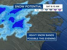 Snow potential for Friday night, Saturday morning